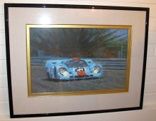 Oil on canvas Porsche 917