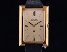 Bulova Accutron 18K gold New Old Stock 1974