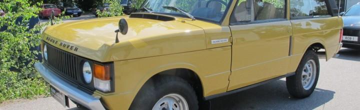 """The Lapland Rangie"", a classic 2-door 1975 Range Rover"